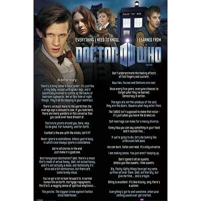 Doctor Who Everything I Know 91.5 X 61 Cm  New 100% Official Merchandise
