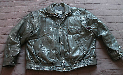 Mens NAHKAPAIKKA Finland Jacket Racer- 100% Leather Removable Sleeve Size 56