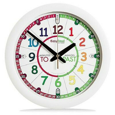 Wall Clock Silent Children Kids Bedroom Time Teaching Learning System Colourful