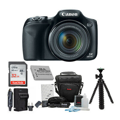 Canon Powershot SX530 HS 50x Zoom 16MP Camera & 32GB Deluxe Accessory Bundle Kit
