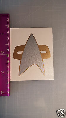 Star Trek Voyager DS9 Com Badge sticker decal