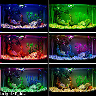 Colour Changing LED Aquarium Strip Light Set RGB Submersible Pond Fish Tank UK