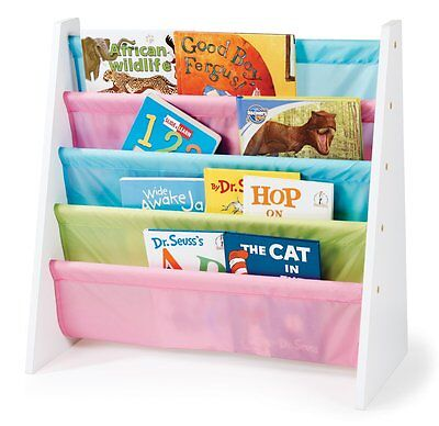 Tot Tutors WO594 Pastel Color Book Rack (Adult assembly required,White painted )