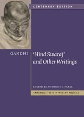 Gandhi: 'Hind Swaraj' and Other Writings Centenary Edition (Cam .9780521197038