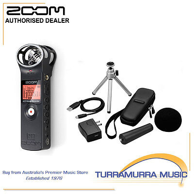 Zoom H1 Handy Digital Audio Recorder With Accessory Pack.