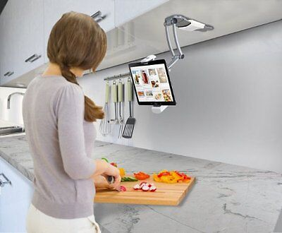 NEW Digital 2-in-1 Mount Stand Tablets Kitchen iPad Air Mini Surface Holder Wall