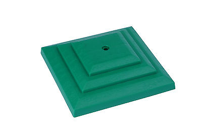 "Linic 5 x Green 3"" 75mm Plastic Fence Post Cap Top Finial UK Made GT0043"