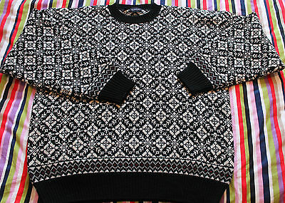 Mens GANT 100% WOOL Nordic Norway Cardigan Jumper Telemark Dale Of. Size L