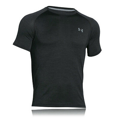 Under Armour Tech Hombre Negro Manga Corta Running Correr Deporte Camiseta Top