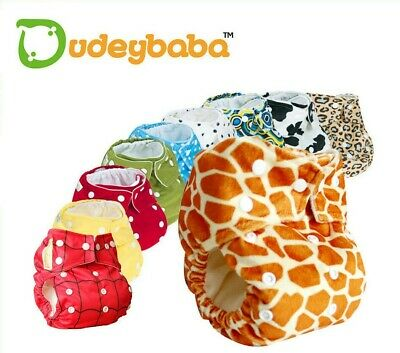 Baby Reusable Cloth Pocket Nappy Diaper Choice of Inserts and Quantity