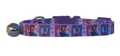 "Lilac & Pink  Disney's  "" Daisy Duck ""   safety kitten cat collar 3 sizes"