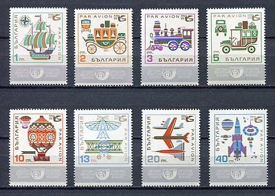 33725) BULGARIA 1969 MNH** AM Means of Communication - 8v
