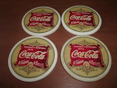 Rare 1999 Coca-Cola Coasters Each Measures Roughly 4 1/8 Inches