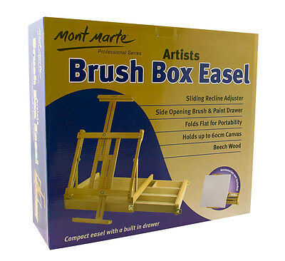 Mont Marte Big Desk Easel with Paint & Brush Box - Beautiful Artist Easel
