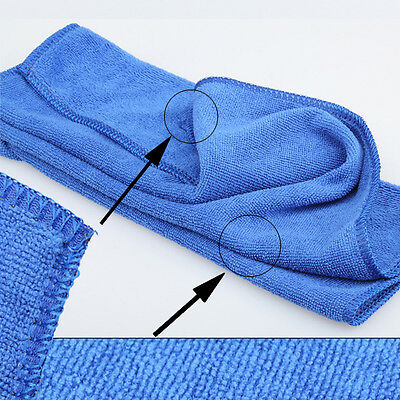 70*30 cm Soft Microfiber Absorbent Towel Car Cleaning Wash Cloth Blue