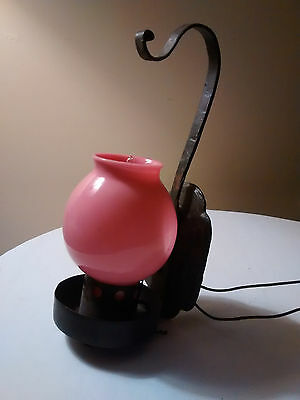 Gothic pull String Single Light Wall Sconce Fixture w Pink shade works Leviton