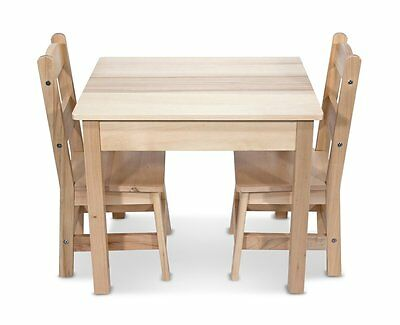 Melissa & Doug Wooden Table and 2 Chairs Set (2427) 11 inch seat separately New