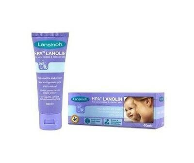 NEW!Lansinoh HPA Lanolin Cream 40ml For Sore Nipples Cracked Skin Soothe Protect