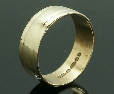 Vintage 9Carat Yellow Gold Wedding Ring / Band (Size N 1/2) 6mm Width