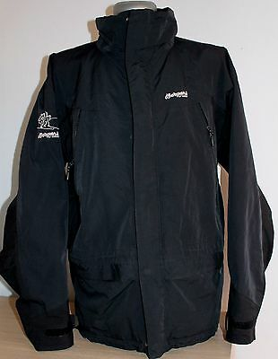 Mens BERGANS OF NORWAY Jacket Winter Black Zipper Armpits Waterproof Size L