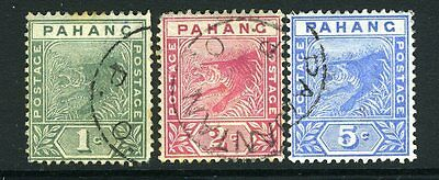MALAYA (PAHANG)-1891-95 Set of 3 Sg 11-13 FINE USED V8299