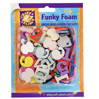 Craft Planet 25mm Numbers Shapes Funky Foam CPT 80507