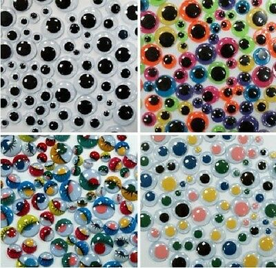 500 Googly Eyes Wiggle Wiggly  Assorted Color Sizes Bumper pack