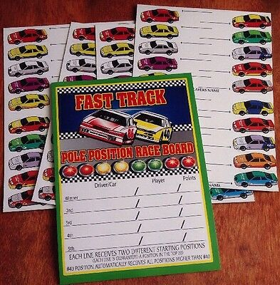20 Tab Fast Track Pole Position Nascar Boards Pull Tabs NEW 5ct Gambling Cards