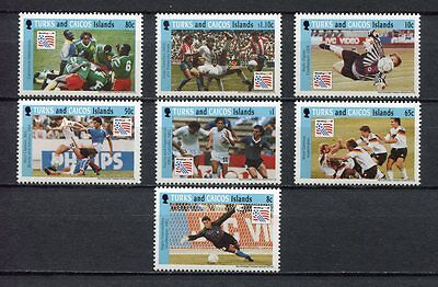 s7055) TURK & CAICOS 1994 MNH** WC Football'94- CM Calcio 7v