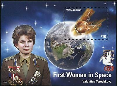 Antigua & Barbuda Stamp 2015 Space Anniversaries First Woman In Space S/s