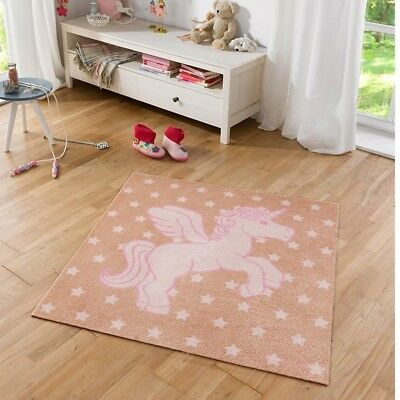 Kinderteppich Softvelours Einhorn 100x100 cm | 102387