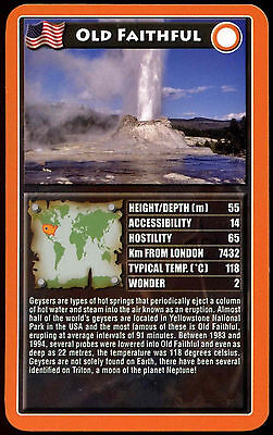 Old Faithful - Natural Wonders Of The World - Top Trumps Card (C103)