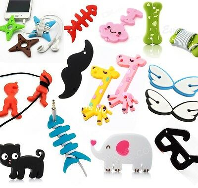 Novelty Earphone Headphone Cable Tidy Organiser Wire Wrap Holder Phone Charm