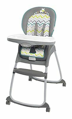 Ingenuity Trio 3 in 1 Ridgedale HIGHCHAIR, Baby HIGH CHAIR + BOOSTER SEAT, Grey