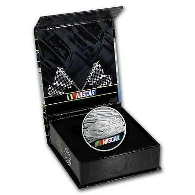 NASCAR 2016 1 oz Commemorative .999 Silver Round w/ Collector Box Holographic #