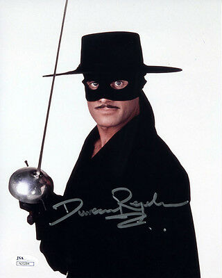 """DUNCAN REGEHR Signed 8X10 Color """"Zorro""""  Photo with a JSA (James Spence) COA"""