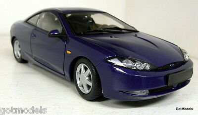 Action 1/18 Scale Ford Cougar in blue diecast model car