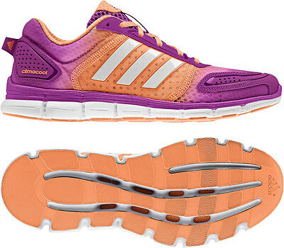 New Older Girls Adidas Climacool Aerate 3 Purple Running Sports Trainers 3-6 UK