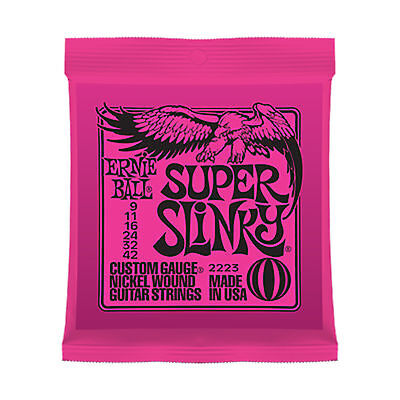 Ernie Ball Super Slinky Electric Guitar Strings 9 - 42