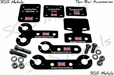 BLACK Tow Bar Towbar Trailer Accessories Drop Plate Boat 4 x 4 Landrover Bolts