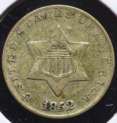 1852 Silver Three Cent, FREE SHIPPING!!!!! 3CA73