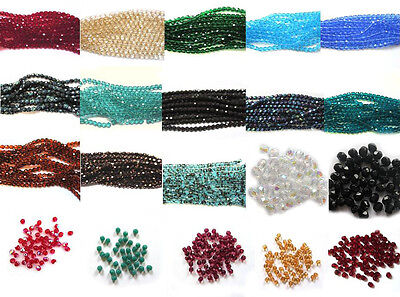 Fire Polished Czech Glass Faceted Beads 6mm Choose from over 30 colours
