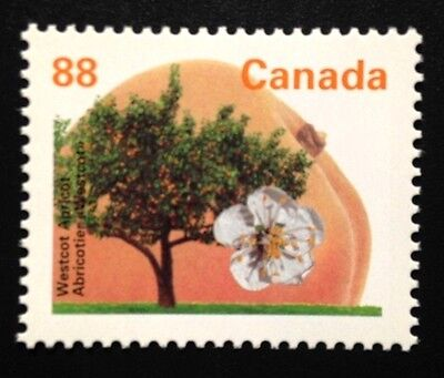 Canada #1373 PP GT4, MNH, Westcot Apricot Tree Definitive Stamp 1994
