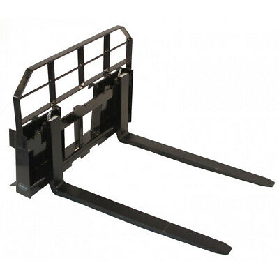 """60"""" Skid Steer HD Pallet Fork Attachment 5500 lb Capacity Quick Attach Tractor"""