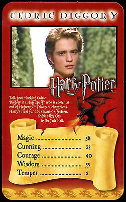 Cedric Diggory - Harry Potter Goblet Of Fire - Top Trumps Card (C114)