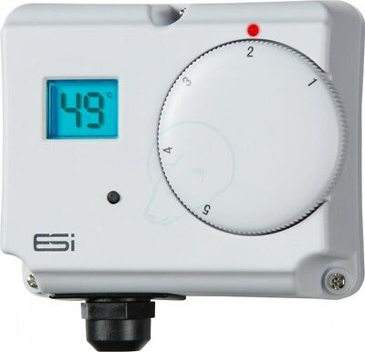 ESI ESCTDE Electronic Dual Energy Saving Cylinder Thermostat with LCD Display