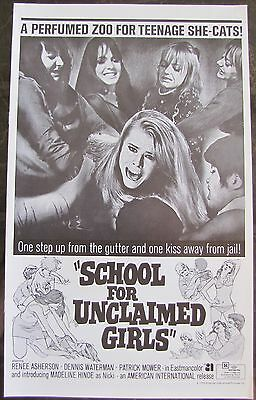 SCHOOL FOR UNCLAIMED GIRLS Perfumed Zoo for Teenage She-Cats! 1973 AIP PRESSBOOK