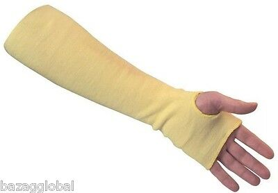 "2x Dupont Kevlar Sleeves 18"" LRG by JOMAC CANADA, Yellow, ANSI/ISEA 105 Level 3"
