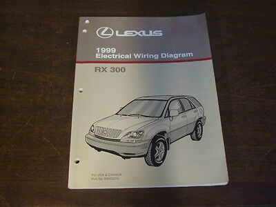 1999 LEXUS RX300 RX 300 ELECTRICAL WIRING DIAGRAM Service Repair Manual