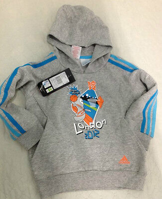 adidas Kids Mascot Sport FZ Hoodie SIZE (1/2-3/4-4/5) YEARS OLD